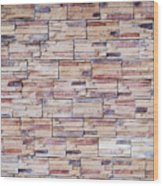 Brick Tiled Wall Wood Print