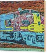 Brick Train Wood Print