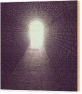 Brick Tunnel  Wood Print