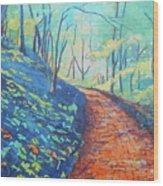 Brick Walk Wood Print