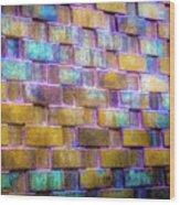 Brick Wall In Abstract 499 S Wood Print
