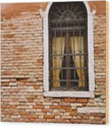 Brick Window Wood Print