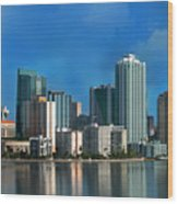 Brickell Skyline 2 Wood Print