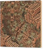 Bricks And Mortar Wood Print by Lyle Hatch