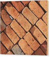 Bricks Made From Adobe Wood Print