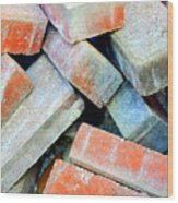Bricks. Wood Print