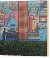 Bricktown Mosaics Wood Print