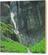 Bridal Veil Falls Canvas 1 Wood Print