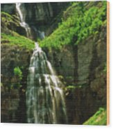 Bridal Veil Falls Canvas 3 Wood Print