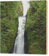 Bridal Veil Falls - Oregon Wood Print