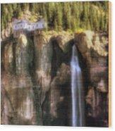 Bridal Veil Falls Power Plant - Telluride - Colorado Wood Print