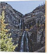 Bridal Veil Falls Provo Utah Wood Print