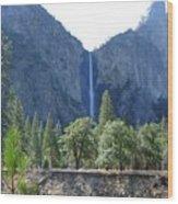 Bridal Veil Yosemite Wood Print