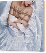 Bridal/wedding Sensual Rope - Fine Art Of Bondage Wood Print by Rod Meier