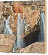 Bridalveil Fall In Yosemite Np Wood Print