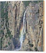 Bridalveil Falls From Above - Yosemite Wood Print
