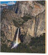 Bridalveil Falls Rainbow #3 Wood Print