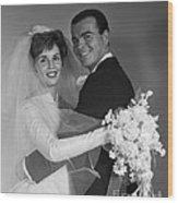 Bride And Groom, C.1960s Wood Print