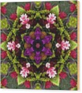 Bride's Maids Boquet Kaleidoscope Wood Print