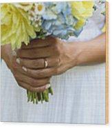 Brides Wedding Ring Wood Print
