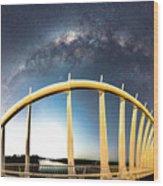 Bridge Across The Galaxy Wood Print