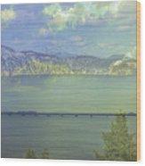 Bridge Across The  Lake Wood Print