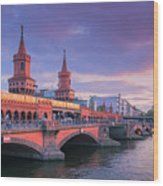 Bridge Across The River Spree, Berlin, Germany Wood Print