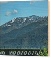 Bridge Alaska Rail  Wood Print