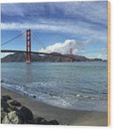 Bridge And Sea Wood Print