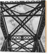 Bridge And Sky Wood Print