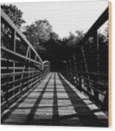Bridge And Tunnel - B/w Wood Print