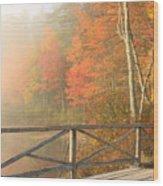 Bridge At Chocorua Lake Wood Print