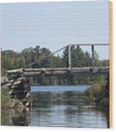Bridge At Chub Wood Print