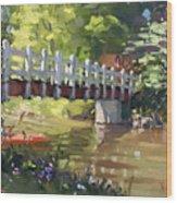 Bridge At Ellicott Creek Park Wood Print