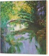 Bridge At Giverny Wood Print