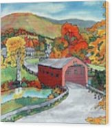 Bridge At The Green Wood Print by Linda Marcille