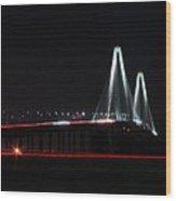 Bridge Blur - Digital Art Wood Print