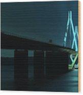 Bridge By Night Wood Print