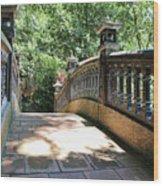 Bridge Crossing Tam Coc Vietnam Wood Print