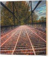 Bridge Crossing  Wood Print