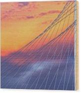Bridge Detail At Sunrise Wood Print