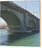 Bridge From London Wood Print