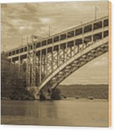 Bridge From The Train Wood Print