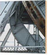 Bridge Gears Wood Print