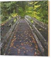 Bridge In A Park Wood Print