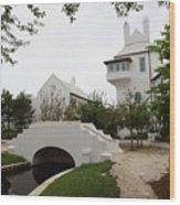 Bridge In Alys Beach Wood Print