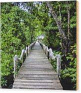 Bridge In Kosrae Wood Print