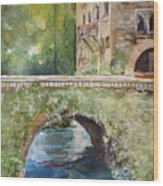 Bridge In Spain Wood Print