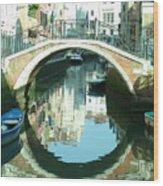Bridge In Venice Wood Print
