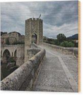 Bridge Of Besalu, Girona Provence, Catalonia, Spain-2 Wood Print